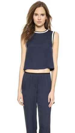 Modern Georgette Bonda Crop Top by Theory in Entourage