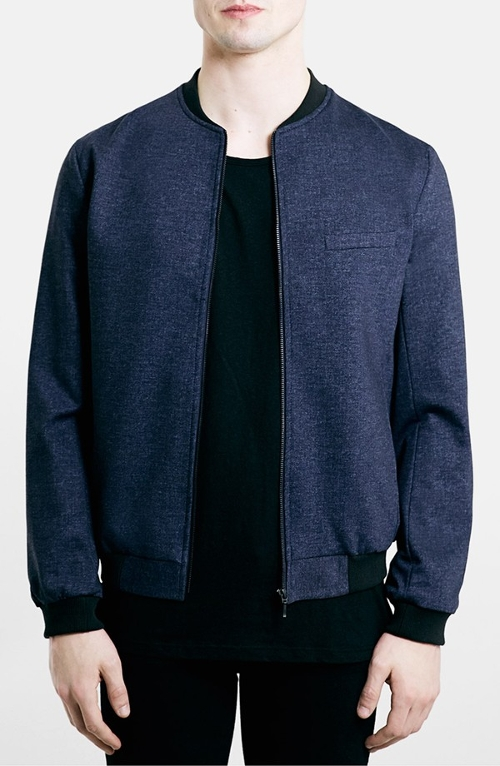 Tailored Jersey Bomber Jacket by Topman in Fantastic Four