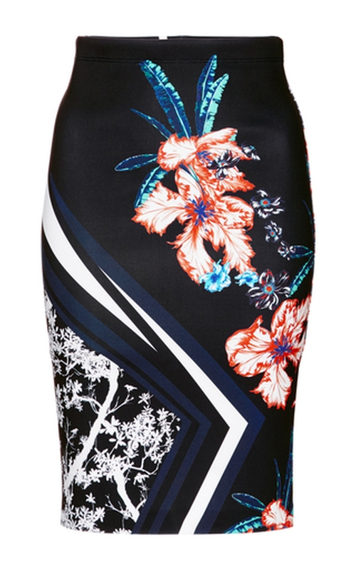 Modern Romance Fitted Midi Skirt by Clover Canyon in Pretty Little Liars - Season 6 Episode 13