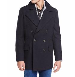 Plaid Wool Pea Coat by Neiman Marcus in Sneaky Pete
