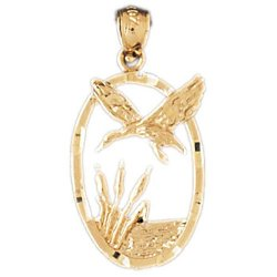 Flying Duck and Cattails Pendant Necklace by Necklace Obsession's in If I Stay