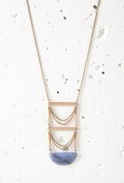 Faux Stone Ladder Pendant Necklace by Forever 21 in The Flash