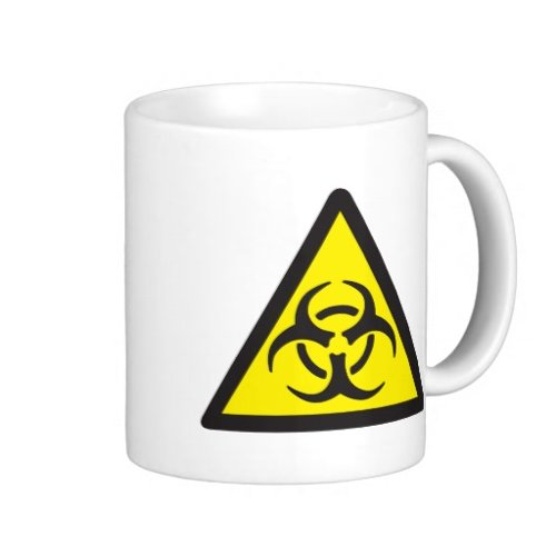 Warning Biohazard Symbol Coffee Mug by Zazzle Home in Paddington