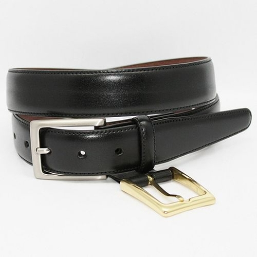 Glazed Kipskin Leather Belt by Torino in Ballers - Season 1 Episode 6