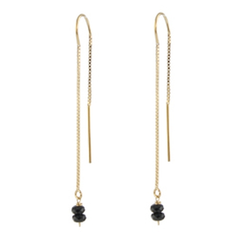 Black Spinel Threader Earrings by Peggy Li in How To Get Away With Murder - Season 3 Episode 1