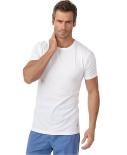 Slim Fit Classic Cotton Crew Undershirt by Polo Ralph Lauren in Life