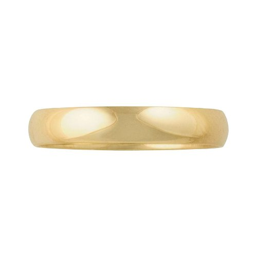 Gold Wedding Band Ring by Cherish Always Collection in Run All Night