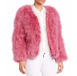 Fluffy Feather Jacket by Pello Bello in Scream Queens