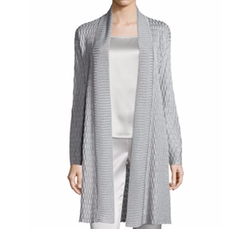 Tile Lattice Knit Artisan Cardigan by St. John Collection in Suits