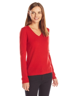 Cashmere V-Neck Sweater by Lark & Ro in The Big Bang Theory
