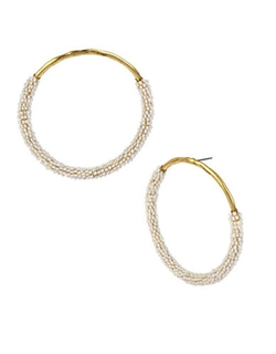 Wrapped Hoop Earrings by Betsey Johnson in High School Musical 3: Senior Year