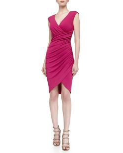 Asymmetric Stretch Knit Tulip Dress by Michael Kors in New Year's Eve