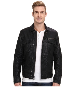Faux Leather Moto Jacket by Calvin Klein Jeans in Terminator: Genisys