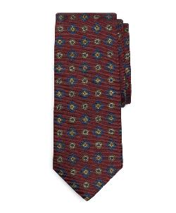 Ancient Madder Circle Square Print Tie by Brook Brothers in The Wolf of Wall Street