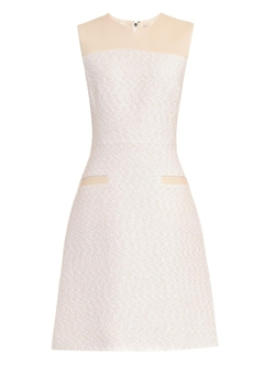 Bouclé And Leather Dress by Jason Wu in Empire