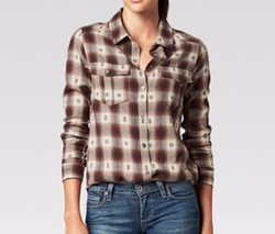 Jacquard Plaid Shirt by Paige in The Ranch