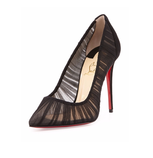 Follie Draperia Chiffon Red Sole Pumps by Christian Louboutin in Fifty Shades Darker