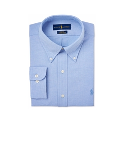 Men's Slim-Fit Solid Dress Shirt by Polo Ralph Lauren in Silicon Valley