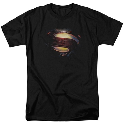 "Superman Man of Steel Grungy ""S"" Shield T-Shirt 2013 Movie T-Shirt by Trevco in The Big Bang Theory - Season 9 Episode 9"