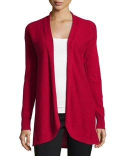 Cashmere Open-Front Cardigan Sweater by Neiman Marcus in The Good Wife