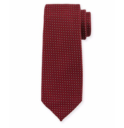 Micro Dot-Print Silk Tie by Tom Ford in House of Cards - Season 4 Episode 2