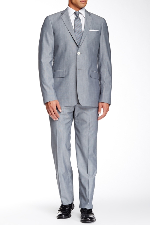 Bayard Sharkskin Two-Piece Wool Suit by Paul Smith in Ride Along 2