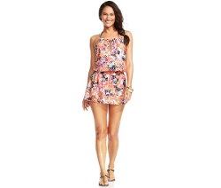 Floral Halter Smocked Dress Cover Up by Kenneth Cole Reaction in The Longest Ride