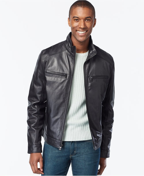 Hipster Leather Jacket by Michael Michael Kors in Suits - Season 5 Episode 10
