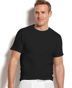 Crew Neck T-Shirt 4 Pack by Hanes in Mortdecai