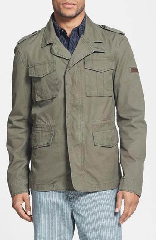 John Rich 'M43' Waxed Cotton Field Jacket by Woolrich in Oculus