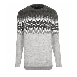 Fairisle Knit Sweater by River Island in Stranger Things