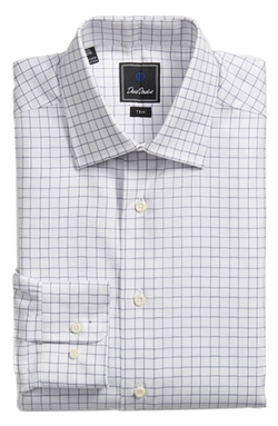 Trim Fit Check Dress Shirt by David Donahue in Ballers