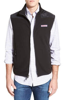Full Zip Fleece Vest by Vineyard Vines in Criminal