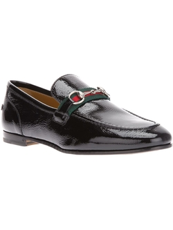 Black Leather Horsebit Loafers by Gucci in Jurassic World
