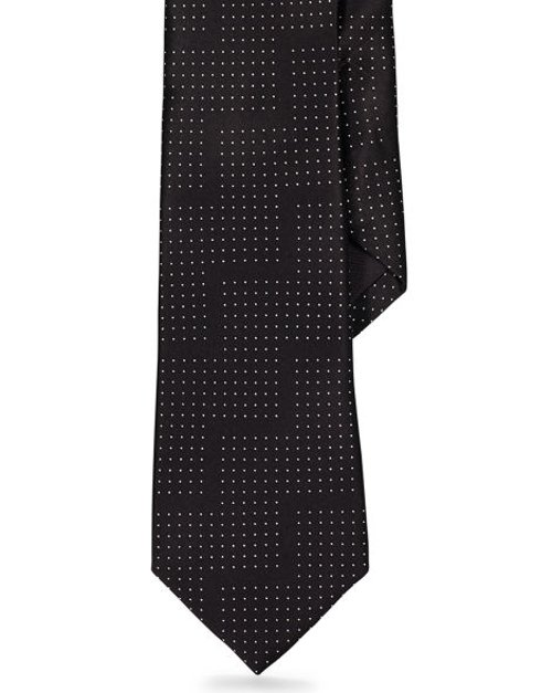 Pin Dot Silk Satin Tie by Ralph Lauren in Sherlock Holmes: A Game of Shadows