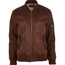 Shearling Bomber Jacket by River Island in Neighbors