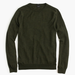 Slim Merino Wool Crewneck Sweater by J. Crew in Spotlight