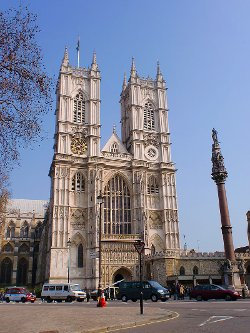 London, United Kingdom by Westminster Abbey in Fast & Furious 6