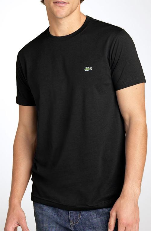 Croc Logo Pima Cotton Crewneck T-Shirt by Lacoste in Fifty Shades of Grey