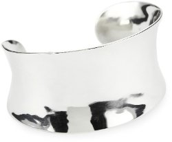 Organic Concave Sterling Silver Cuff Bracelet by Argento Vivo in Furious 7