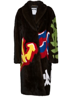 Graffiti Coat by Moschino in Empire