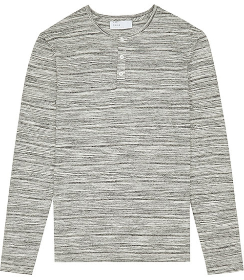 Manhattan Stripe Henley T-Shirt by Reiss in We Are Your Friends