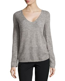 V-Neck Brush Knit Sweater by Halston Heritage in The Age of Adaline