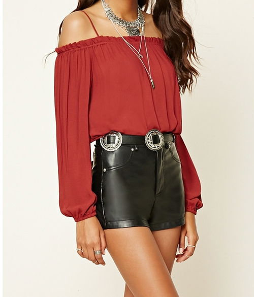 Contemporary Open-shoulder Top by Forever 21 in Pretty Little Liars - Season 7 Episode 7