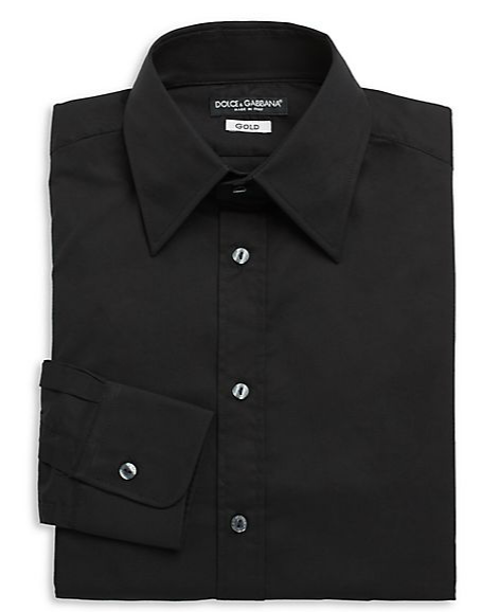 Regular-Fit Stretch Cotton Woven Dress Shirt by Dolce & Gabbana in We're the Millers