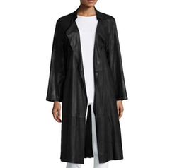 Belted Leather Trenchcoat by Armani Collezioni in Atomic Blonde