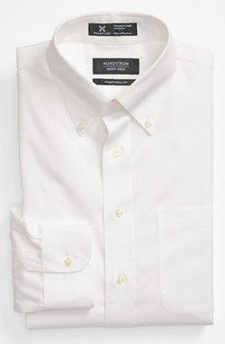 Smartcare Wrinkle Free Traditional Fit Pinpoint Dress Shirt by Nordstrom Men's Shop in Jurassic World