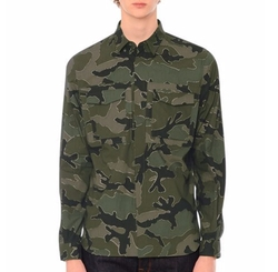 Camo-Print Long-Sleeve Military Shirt by Valentino in The Fate of the Furious