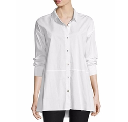 Organic Cotton Lawn Oversized Shirt by Eileen Fisher in American Horror Story