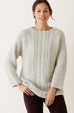 Vineyard Tweed Cable Sweater by J.Jill in How To Get Away With Murder